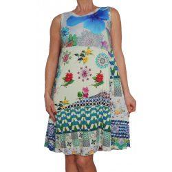 Desigual vékony lenge virágos színes nyári ruha Vest Malena
