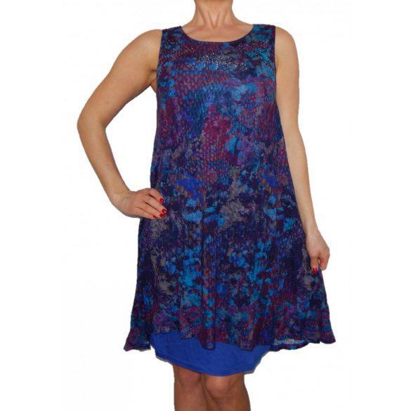 Desigual kék lila női ujjatlan pamut ruha Vest Eric