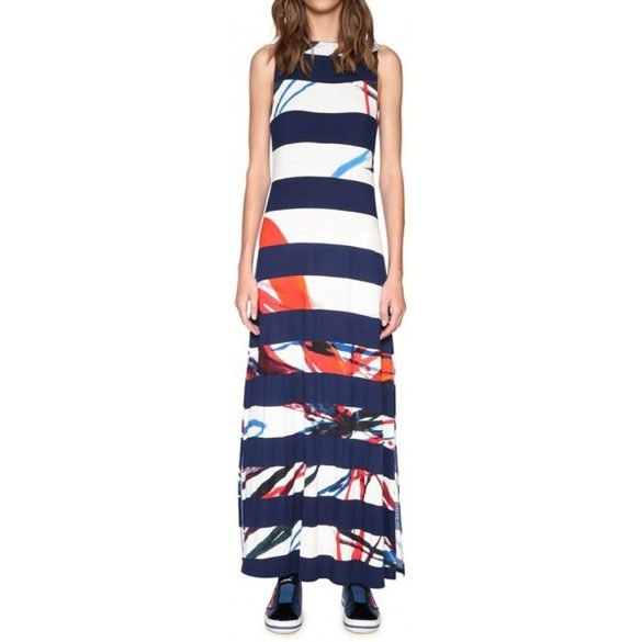 Desiugal kék fehér csíkos nyári maxi ruha Vest Felipe