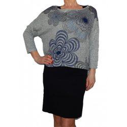 Desigual fekete pamut ruha szürke kötött pulóver felsővel Vest Lisboa