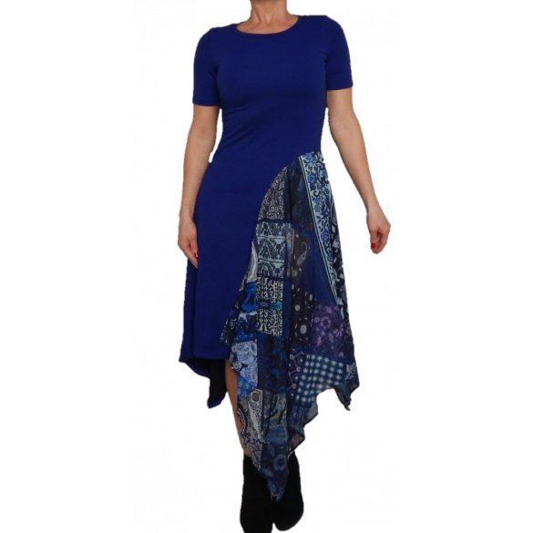 Desigual kék hosszú női rövidujjú ruha Vest Francina