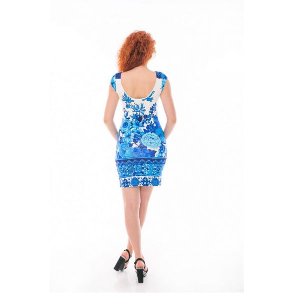 Desigual ruha fehér kék virágos Vest Fiona