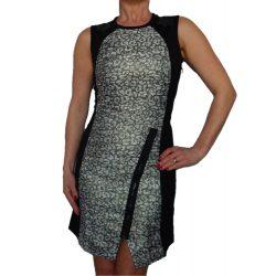 Desigual kigyóbőr mintás ujjatlan fekete női ruha Vest Heli