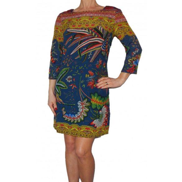 Desigual színes virágmintás női viszkóz ruha Vest Crudo