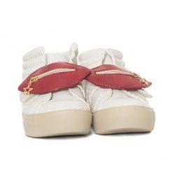Desigual krém színű kígyóbőr mintás magasított szárú sneaker női cipő