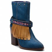 Desigual női magas sarkú farmer bakancs Desigual Shoes Folk Exotic Denim