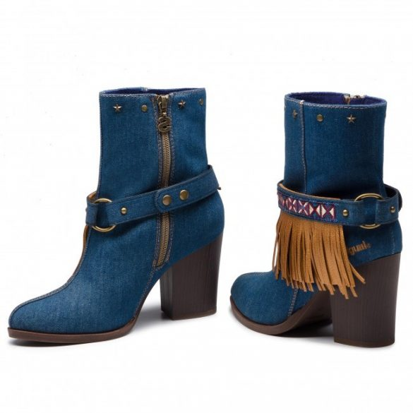 Desigual női magas sarkú farmer bakancs Desigual Shoes Folk Exotic Denim