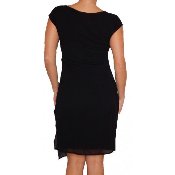 Desigual fekete színes mandalás rövidujjú női ruha Vest Babilon