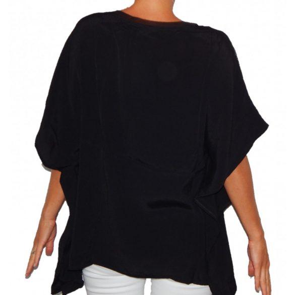 Desigual póló fekete bő fazonú Blus Donna(M)