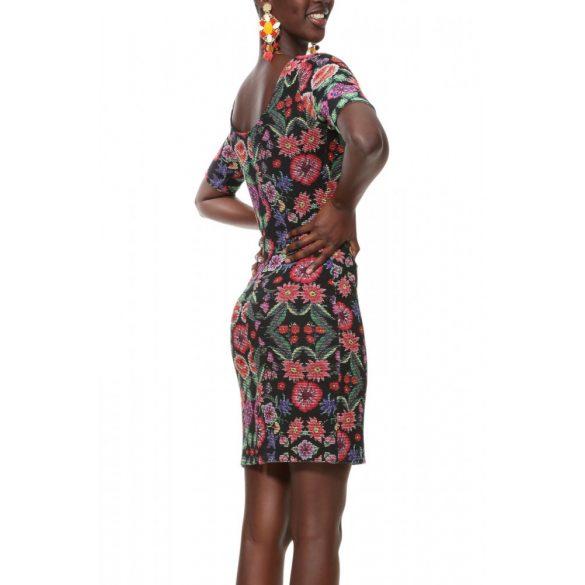 Desigual ruha fekete színes virágos Vest Garden