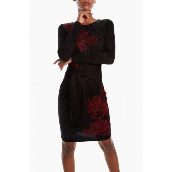 Desigual ruha fekete bordó virágos Vest Duna