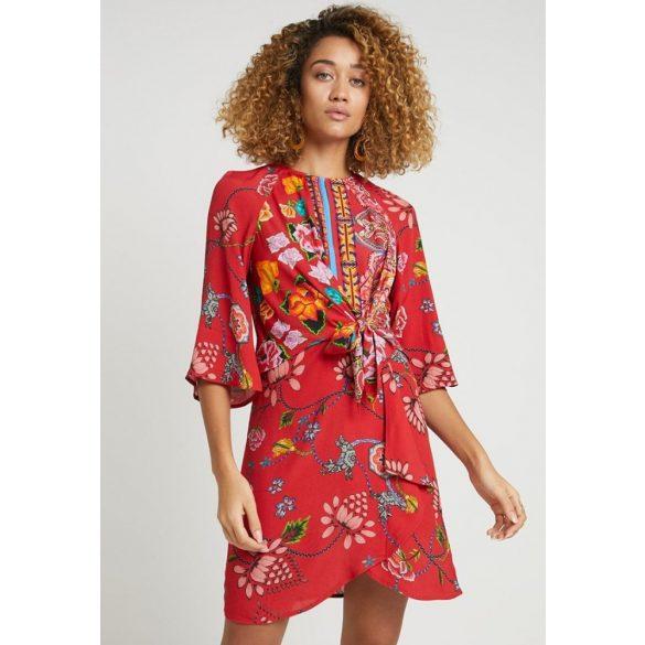 Desigual ruha piros virágos Vest Glen