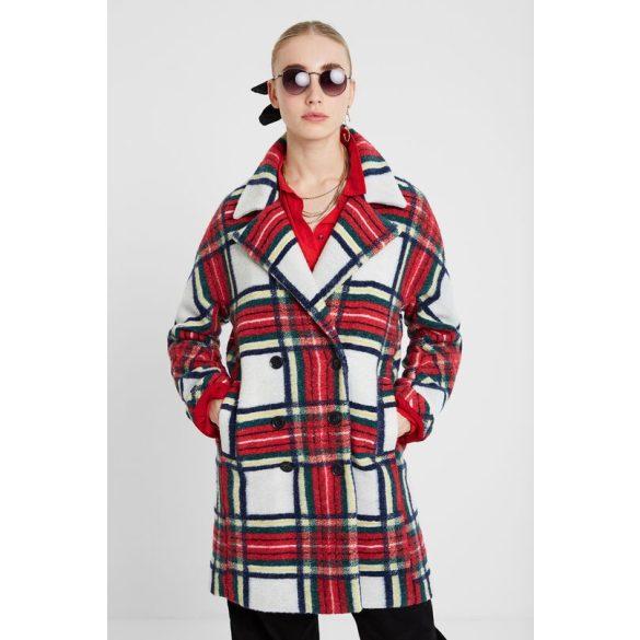 Desigual kockás gyapjú kabát Abrig Dorian(36,40)