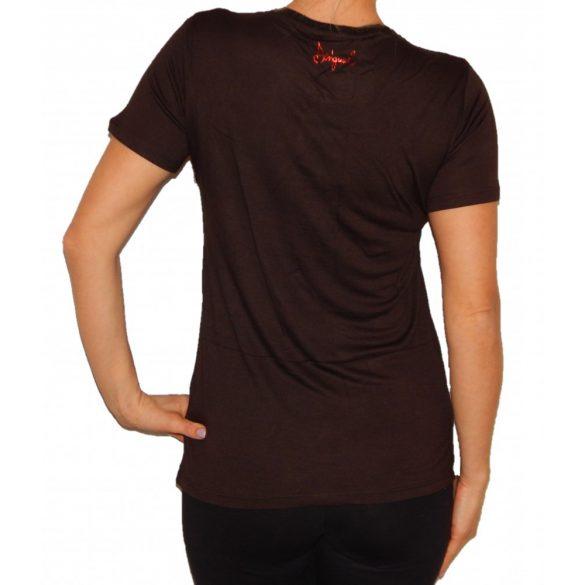 Desigual póló sötétbarna rövidujjú Ts Norah