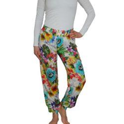 Desigual színes virágmintás kényelmes női nadrág Pant Polka dots