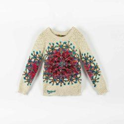 Desigual krém csillámos kislány kötött pulóver Jers Henrick