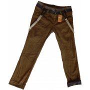 Desigual férfi barna kantáros kordbársony nadrág Pant Blai
