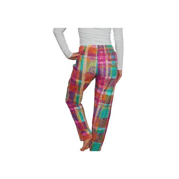 Desigual kényelmes színes női pamut nadrág Pant Trouserts Squares Happy