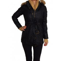 Desigual fekete műbőr kabát Chaq Anne