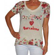 Desigual női krém Barcelona póló Ts Eva