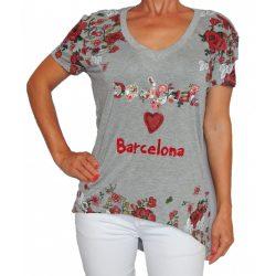 Desigual női szürke Barcelon póló Ts Eva