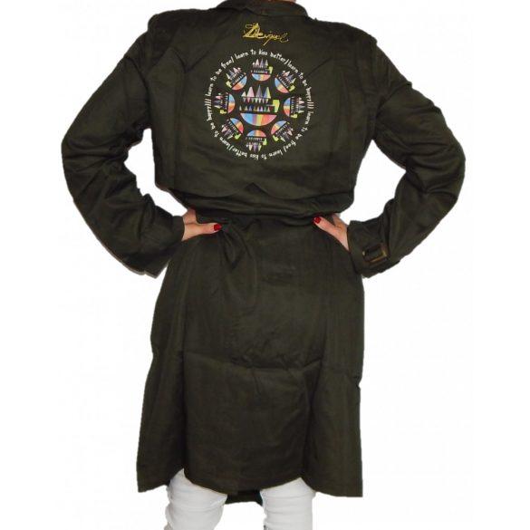 Desigual khaki zöld tavaszi kabát Chaq Cheryl