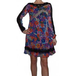 Desigual hosszú ujjú virágos női ruha Vest Dagoberto
