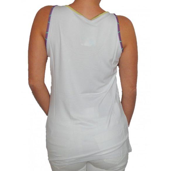 Desigual fehér színű lila szív mintás női nyári trikó