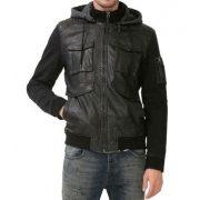 Desigual fekete műbőr kabát Abrig Luis