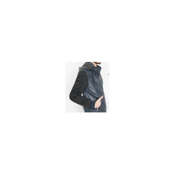 Desigual fekete férfi műbőr kabát Abrig Luis