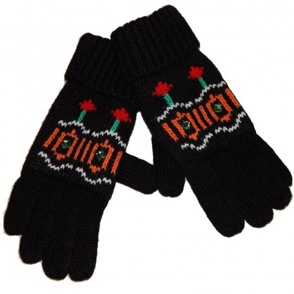 Desigual fekete kötött női kesztyű Gloves Eternal