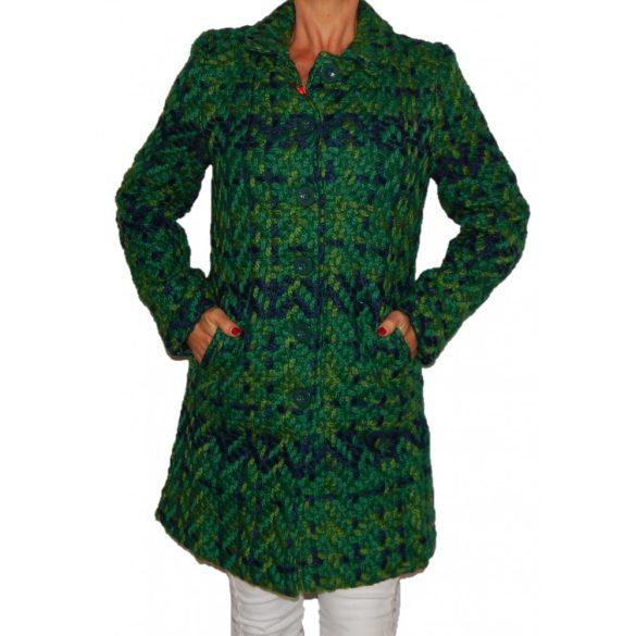 Desigual női zöld kötött gyapjú télikabát Abrig Isabel-la