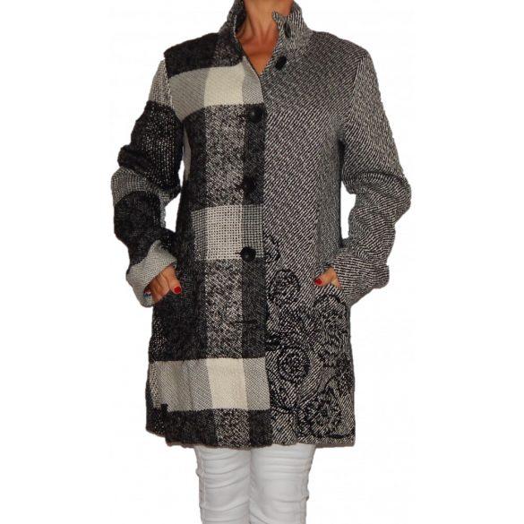 Desigual szürke női gyapjú kabát Abrig Ibiza