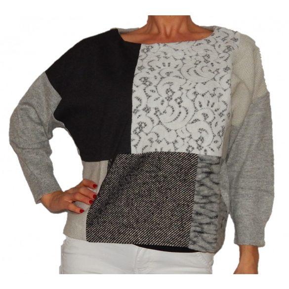 Desigual szürke gyapjú pulóver Jers Luisa
