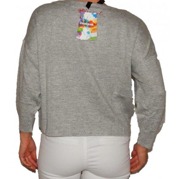 Desigual szürke gyapjú pulóver Jers Luisa(L)