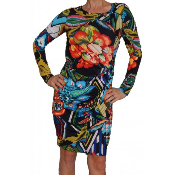 Desigual virágos női hosszú ujjú ruha Vest Rosita