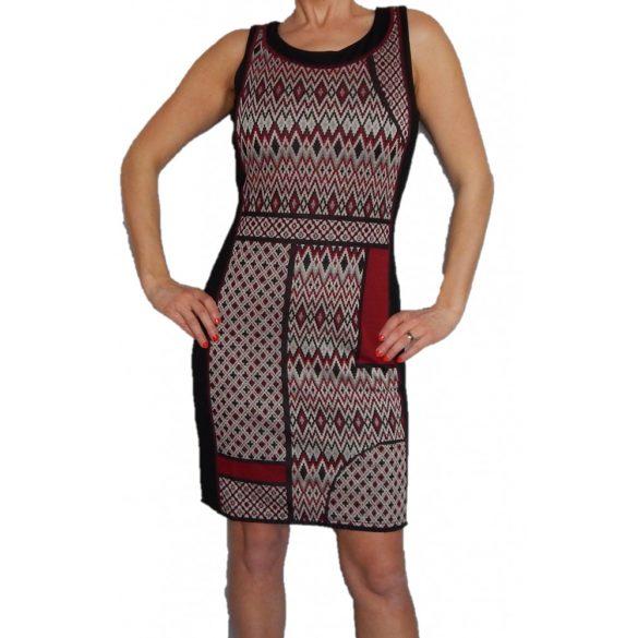 Desigual vastag anyagú fekete mintás ruha Vest Damara