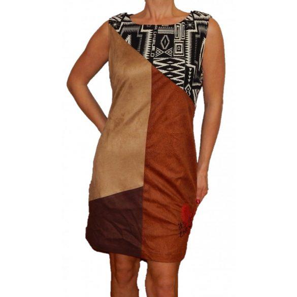 Desigual bőrhatású ruha Vest Manuela