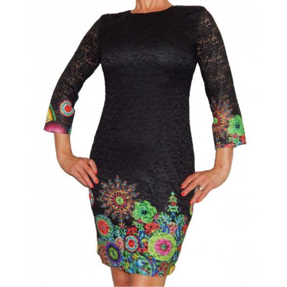 Desigual női fekete csipkés ruha Vest Wendoline