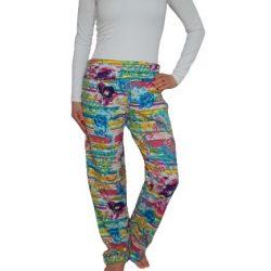 Desigual vidám színes női pamut nadrág Pant Trouser Paisley