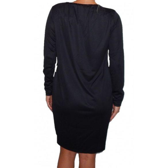 Desigual fekete színes virágmintás hosszú ujjú női ruha Vest Estela B