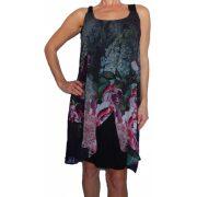 Desigual fekete virágos ujjatlan női ruha Vest Giorgia Straps