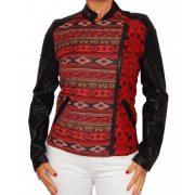 Desigual piros fekete női műbőr dzseki Abrig mar de Plata