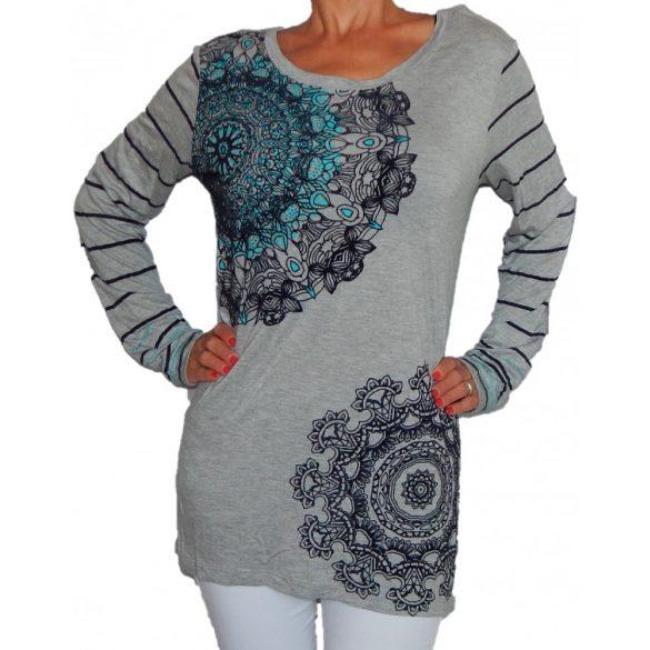 Desigual póló szürke női Ts Saray