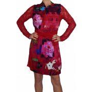 Desigual női csipkés piros hosszú ujjú ruha Vest Nuria