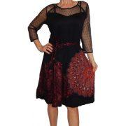 Desigual fekete csípkés ruha Vest Naiara
