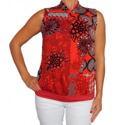 Desigual ujjatlan piros pamut női blúz (XS)