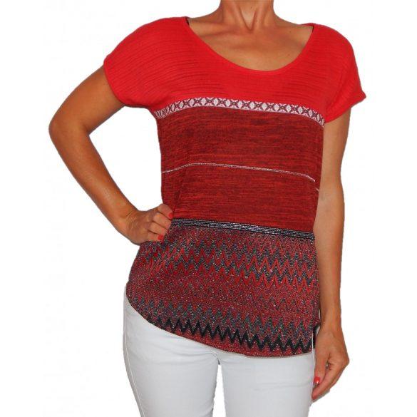 Desigual női piros felső Ts Sandrita