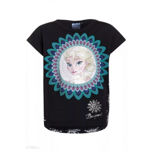 Desigual sötétkék Elsa hercegnős simogatós póló Ts Burgui