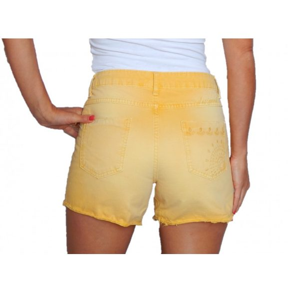 Desigual sárga női rövidnadrág Pant New Exotic